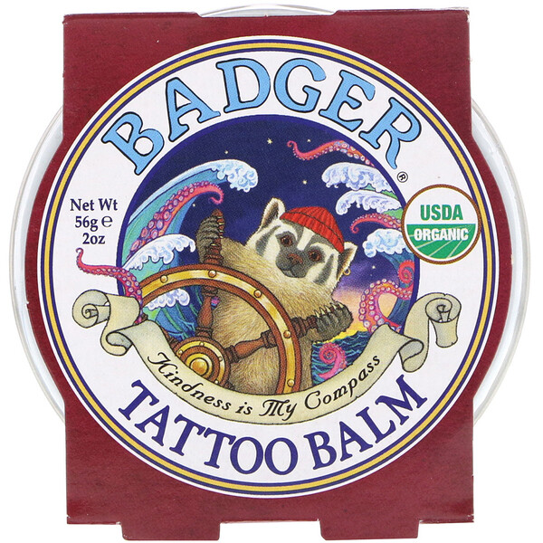 Badger Company, Organic Tattoo Balm, 2 oz (56 g) (Discontinued Item)