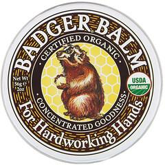 Badger Company, Badger Balm For Hardworking Hands,2 盎司(56 克)