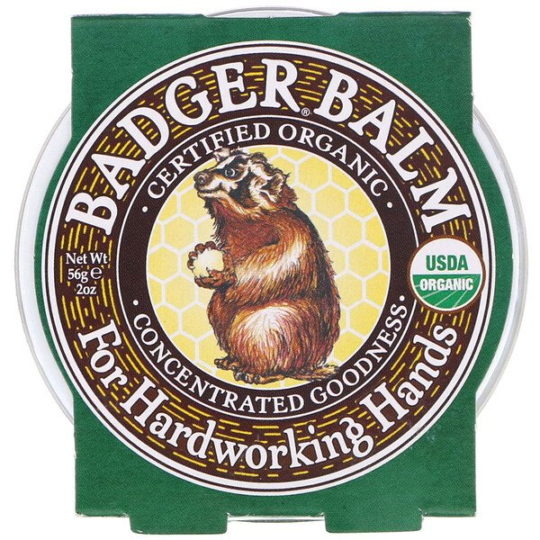Badger Balm For Hardworking Hands, 2 oz (56 g)