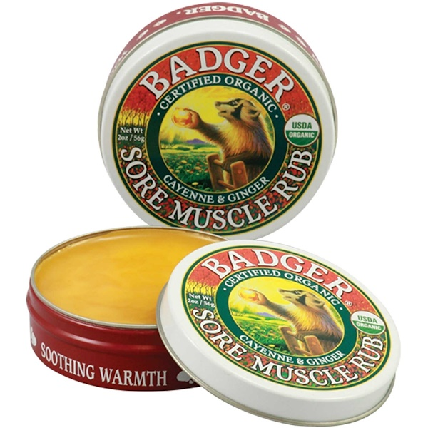 Badger Company, Sore Muscle Rub, Cayenne & Ginger, 2 oz (56 g)