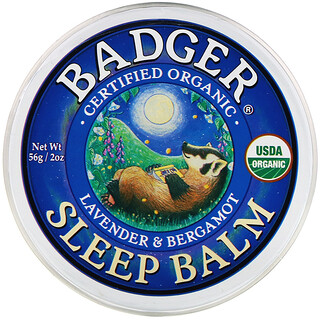Badger Company, Organic Sleep Balm, Lavender & Bergamot, 2 oz (56 g)