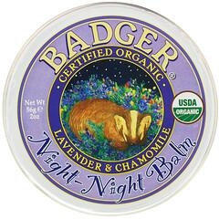 Badger Company, 有機,睡眠支持膏,薰衣花草和洋甘菊香,2 盎司(56 克)