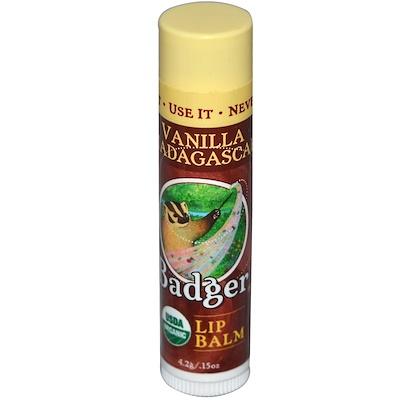 Купить Органический, Бальзам для губ, Мадагаскарская ваниль, .15 унций (4.2 г)