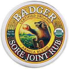 Badger Company, 酸痛關節擦,山金車混合物,2 盎司(56 克)