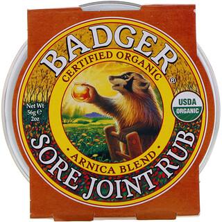 Badger Company, كريم التدليك لعلاج التهاب المفاصل، توليفة من زهرة العطاس، أونصتان (56 جم)