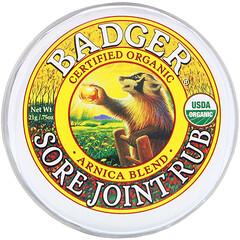 Badger Company, 有機,酸痛關節擦,山金車混合物,0.75 盎司(21 克)