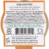 Badger Company, Frote para el dolor de las articulaciones, mezcla de arnica, .75 oz (21 g)