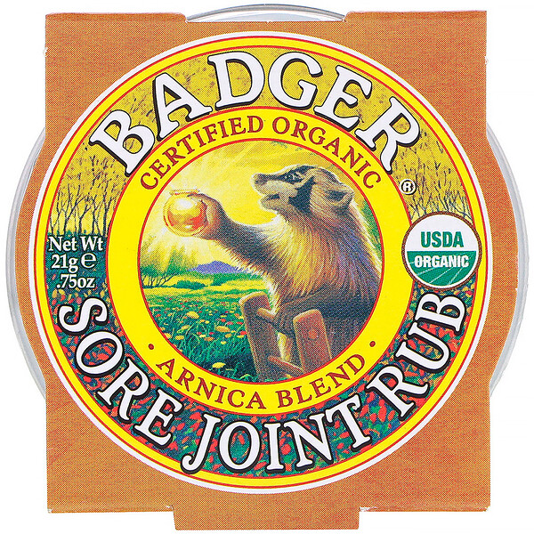 Badger Company, Organic, Sore Joint Rub, Arnica Blend, .75 oz (21 g)
