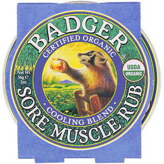 Badger Company, Organic Sore Muscle Rub, Cooling Blend, 2 oz (56 g)