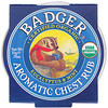 Badger Company, オーガニック アロマティック チェスト ラブ, ユーカリ & ミント, .75 oz (21 g)