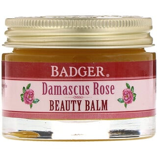 Badger Company, Organic, Beauty Balm, Damascus Rose, 1 oz (28 g)