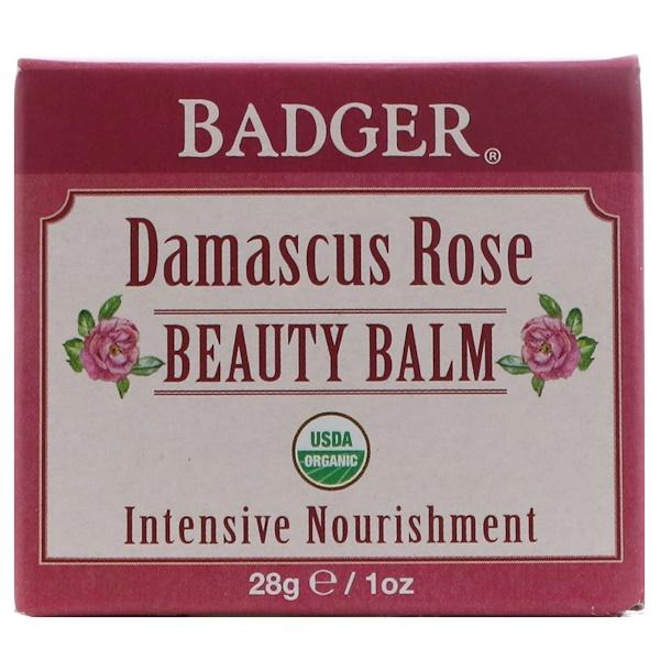 Badger Company, 大馬士革玫瑰美容膏,1盎司(28克)