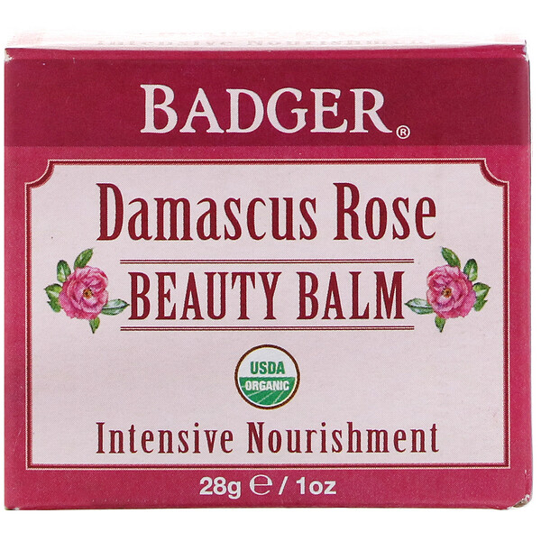 Organic, Beauty Balm, Damascus Rose, 1 oz (28 g)