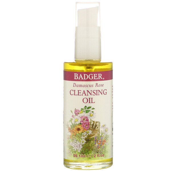 Badger Company, Face Care, Damascus Rose Cleansing Oil, 2 fl oz (59.1 ml) (Discontinued Item)