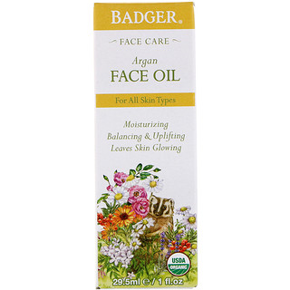 Badger Company, Argan Face Oil, 1 fl oz (29.5 ml)