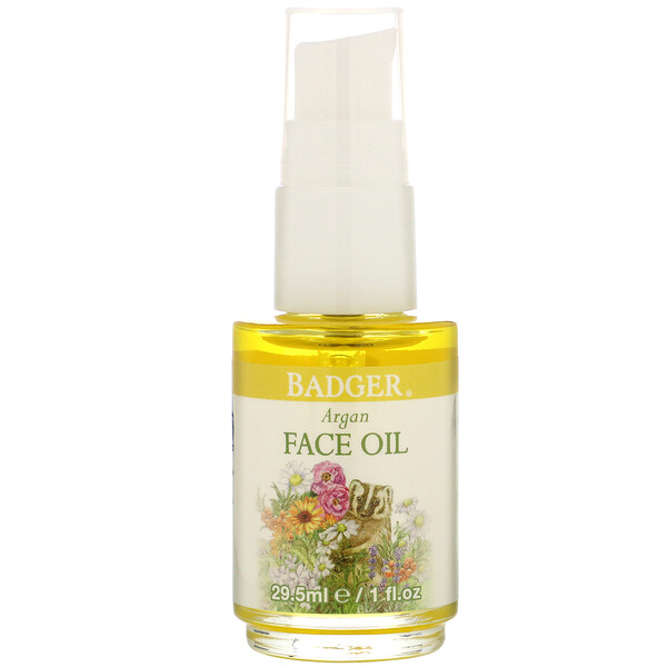 Badger Company, Face Care, Argan Face Oil, 1 fl oz (29.5 ml) (Discontinued Item)