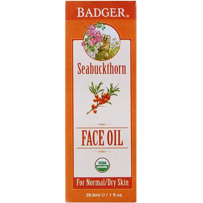Organic, Face Oil, Seabuckthorn, For Normal/Dry Skin, 1 fl oz (29.5 ml)