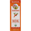 Badger Company, Organic Face Oil, Seabuckthorn, For Normal/Dry Skin, 1 fl oz (29.5 ml)