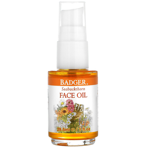 Badger Company, Face Care, Seabuckthorn Face Oil, 1 fl oz (29.5 ml)