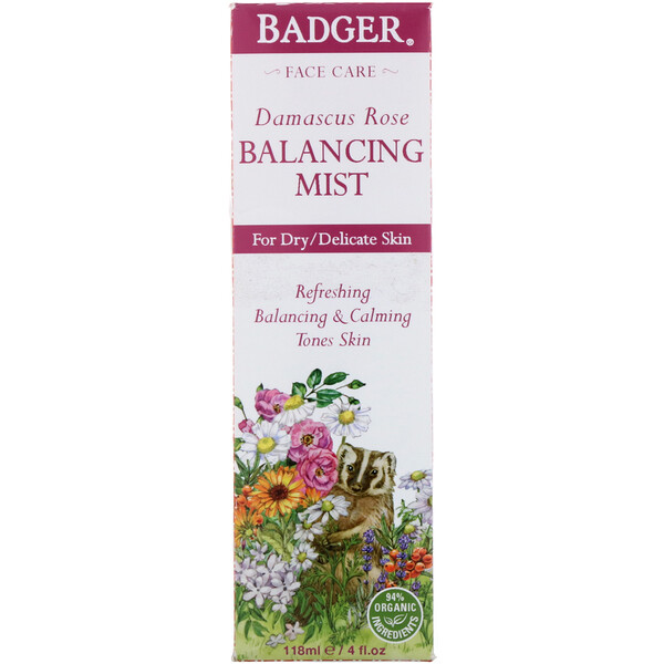 Badger Company, Damascus Rose, Balancing Mist, 4 fl oz (118 ml)