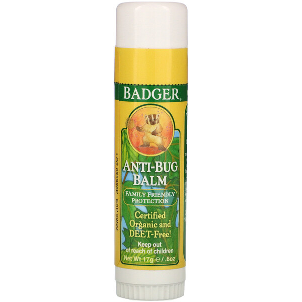 Badger Company, Anti-Bug Balm, .60 oz (17 g)