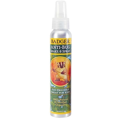 Badger Company 有機防蚊蟲,搖一搖噴霧,4液量盎司(118.3毫升)