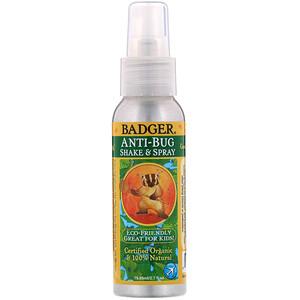 Бадгер компания, Anti-Bug, Shake & Spray, 2.7 fl oz (79.85 ml) отзывы