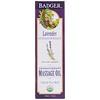 Badger Company, Массажное масло для ароматерапии, лаванда с бергамотом и бальзамом пихты, 4 жидких унции (118 мл)