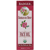 Badger Company, Organic, Face Oil, Damascus Rose, For Dry, Delicate Skin, 1 fl oz (29.5 ml)