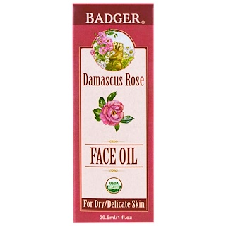 Badger Company, Face Oil, Damascus Rose , 1 fl oz (29.5 ml)