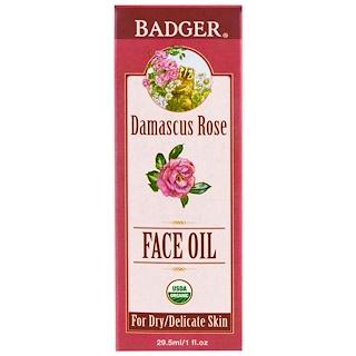 Badger Company, Aceite Facial Antioxidante, Rosa de Damasco con Lavanda y Manzanilla, 1 fl oz (29.5 ml)