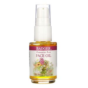 Бадгер компания, Face Care, Damascus Rose Face Oil, 1 fl oz (29.5 ml) отзывы