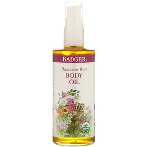 Бадгер компания, Damascus Rose Body Oil, 4 fl oz (118 ml) отзывы покупателей