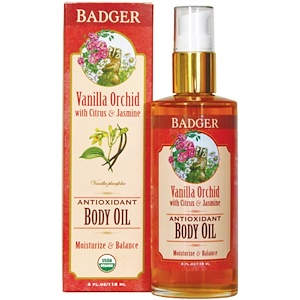 Бадгер компания, Antioxidant Body Oil, Vanilla Orchid, 4 fl oz (118 ml) отзывы