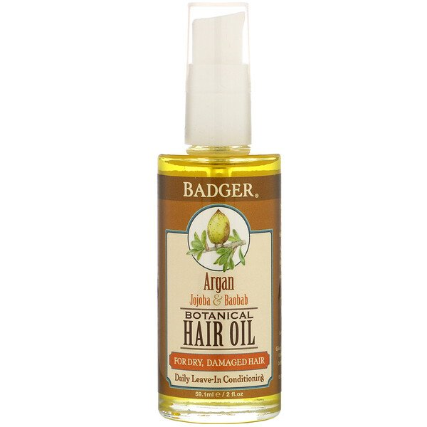 Botanical Hair Oil, Argan, Jojoba & Baobab, 2 fl oz (59.1 ml)