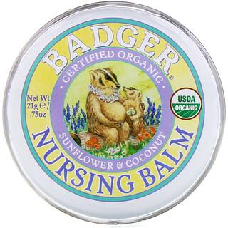 Badger Company, Bálsamo Orgânico de Enfermagem, Girassol e Coco, .75 oz (21 g)