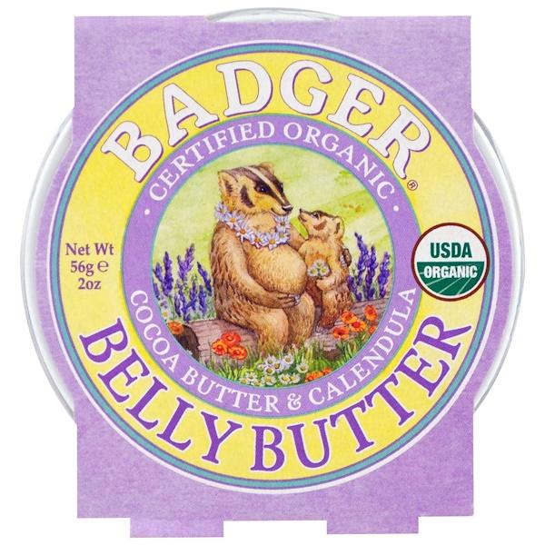 Badger Company, 有機貝利黃油,可可黃油和金盞花,2盎司(56克)