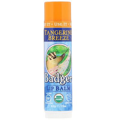 Купить Badger Company Lip Balm, Tangerine Breeze, .15 oz (4.2 g)