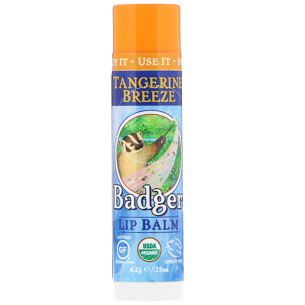 Badger Company, Lip Balm, Tangerine Breeze, .15 oz (4.2 g)