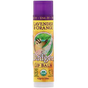 Бадгер компания, Lip Balm, Lavender & Orange, .15 oz (4.2 g) отзывы покупателей