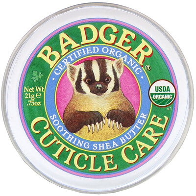 Badger Company Органическое средство со смягчающим маслом ши для ухода за кутикулой, 21 г (0,75 унции)