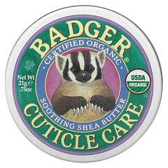 Badger Company, 有機角質層護理,舒緩乳木果油,0.75 盎司(21 克)