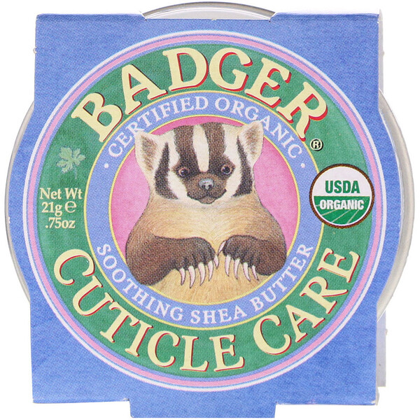 Badger Company, Manteca de Karité Relajante Orgánica, Cuticle Care, .75 oz (21 g)