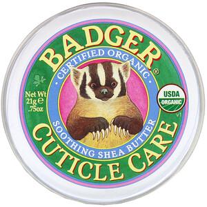 Бадгер компания, Organic Cuticle Care, Soothing Shea Butter, .75 oz (21 g) отзывы покупателей