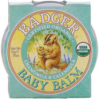 Badger Company, Baby Balm, Chamomile & Calendula, .75 oz (21 g)