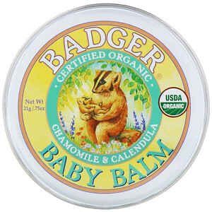 Бадгер компания, Baby Balm, Chamomile & Calendula, .75 oz (21 g) отзывы покупателей