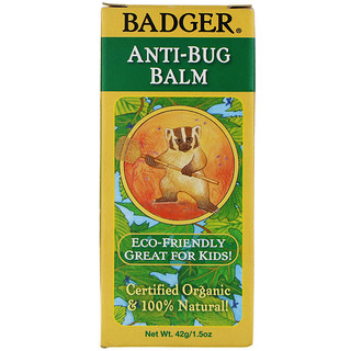 Badger Company, Organic Anti-Bug Balm, 1.5 oz (42 g)