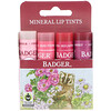 Badger Company, Mineral Lip Tints Set, 4 Pack, .15 oz (4.2 g) Each