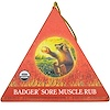 Badger Company, Sore Muscle Rub Ornament, Original Blend, Cayenne & Ginger, .75 oz (Discontinued Item)