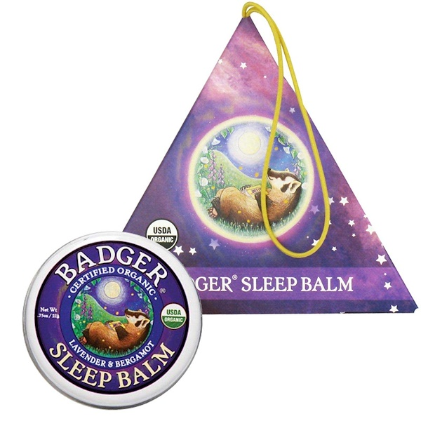 Badger Company, Organic Badger Sleep Balm Ornament, Lavender & Bergamot, .75 oz (21 g) (Discontinued Item)